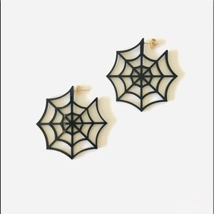 Spiderweb earrings, Halloween earrings